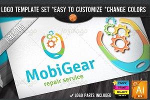 Pixel Gears Mobile Logo Template