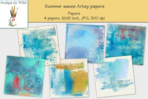Summer waves Artsy papers