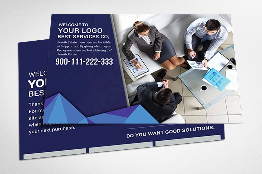 Corporate Postcard Print Templates Flyer Templates Creative - Postcard flyer template
