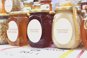 Honey Bottles Mock-up 1