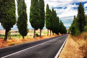 A typical landscape in Tuscany