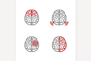 Brain Pain Icons