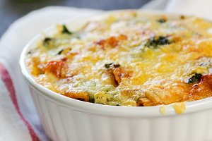 Baked Rigatoni and spinach