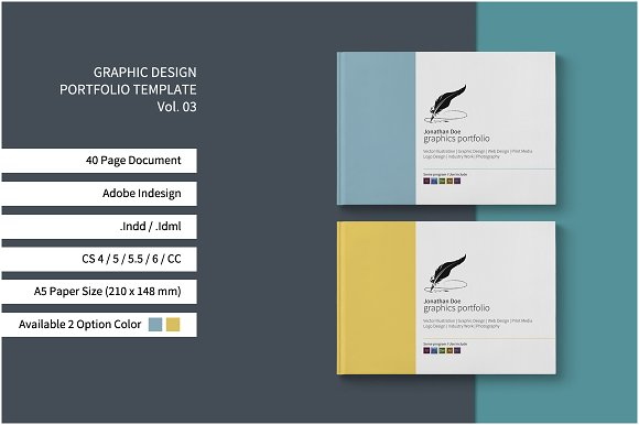 Graphic design portfolio template brochure templates for Graphic design brochure templates