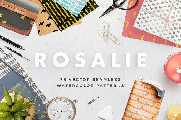 Rosalie Seamless Watercolor Patterns