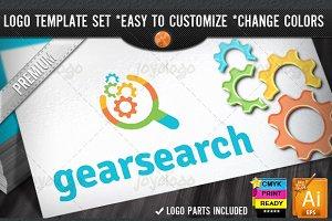 Pixel Gears Search SEO Logo Template