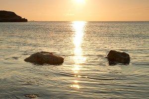 Sea shore and stones