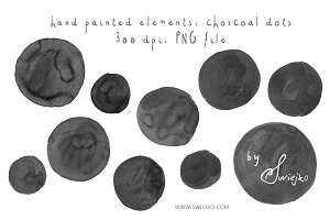Chorcoal Dots, Clipart