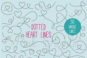 Dotted Arrows with Hearts Clipart