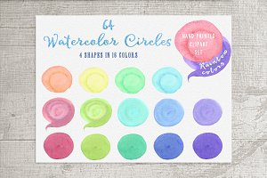 64 Logo watercolor circles