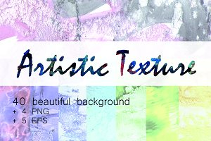 Abstract Paint Textures Set