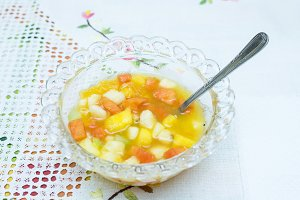 fruit salad of various kinds