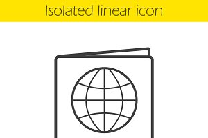 International passport icon. Vector