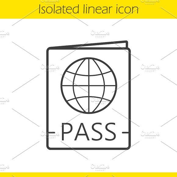 International passport icon. Vector - Icons