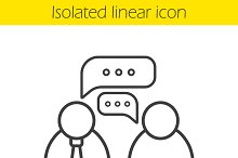 Job interview linear icon. Vector