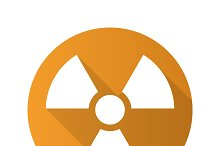 Radiation sign icon. Vector