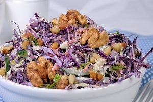 salad of shredded  cabbage