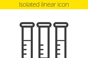 Test tubes linear icon. Vector