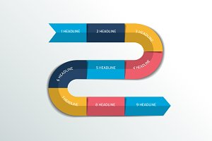 Process infographics  options banner