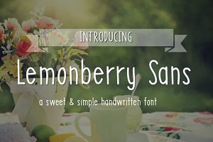 Lemonberry Sans- Handwritten Font