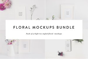Floral Mockups Bundle : 50% off