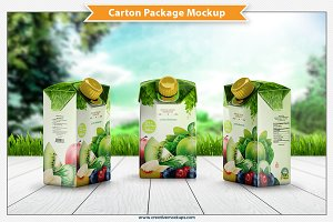 Carton Package Mockup