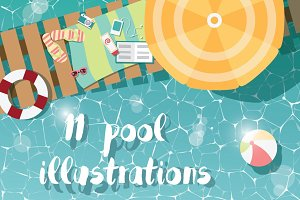 11 Swimming Pool Illustrations