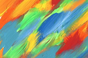 Abstract color acrylic painting