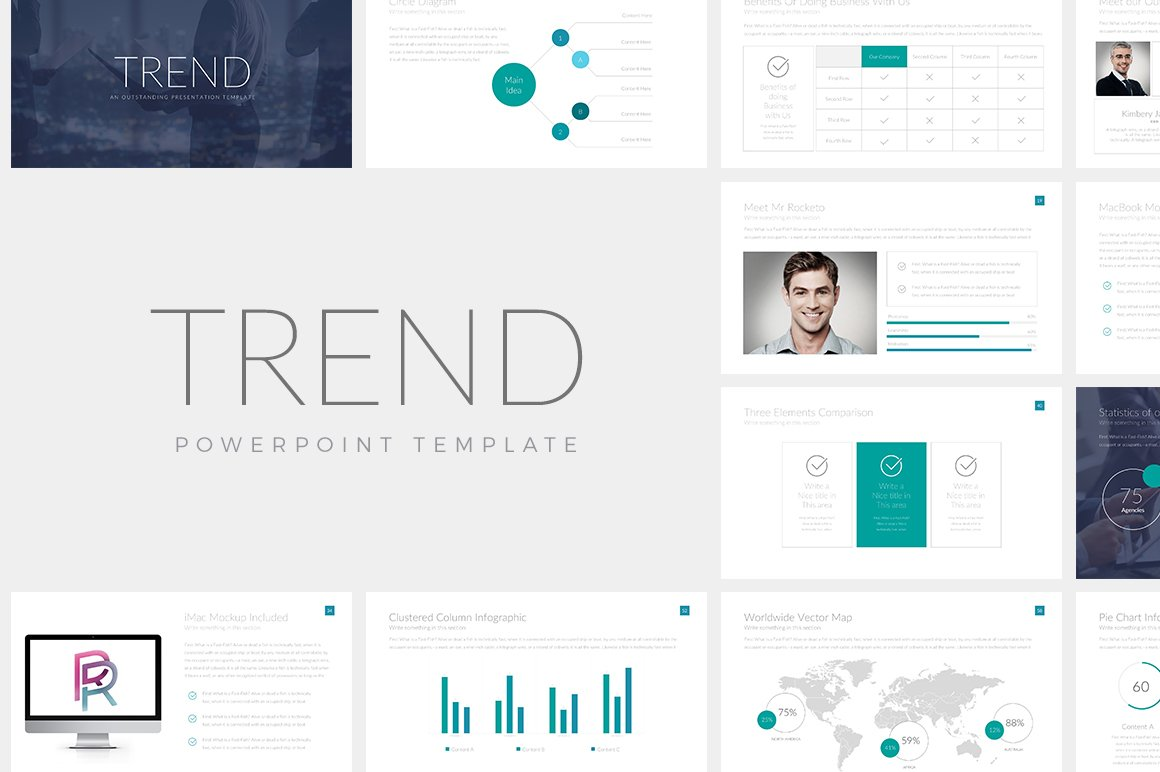 Trend powerpoint template presentation templates creative market toneelgroepblik Image collections