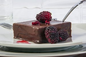 Blackberry and chocolate temptation