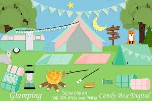 Glamping Camping Clip Art