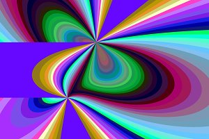 Vivid Looping Colorful Stripes