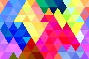 Vivid Triangle Color Pattern