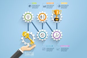 Business Key Infographics Template.