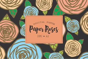 Floral Patterns, paper rose