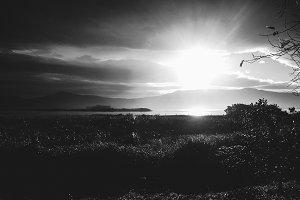 black and white inspiring landscape