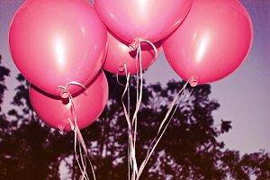 vintage pink balloon