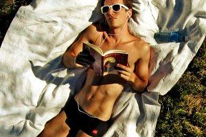 summer nerd boy