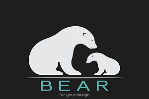 Vector image of an bear.