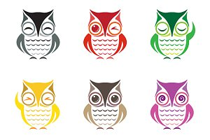 Vector group of owl.