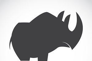 Vector image of an rhino.