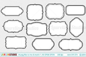 44 piece vector digital frame set