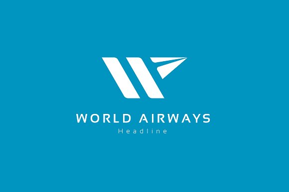 World airways logo template.