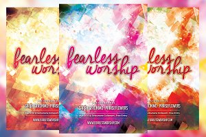 Fearless Worship Church Flyer