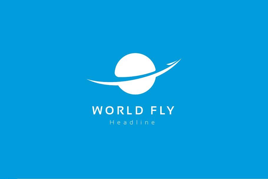 World fly logo template.