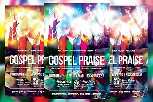 Gospel Praise Church Flyer