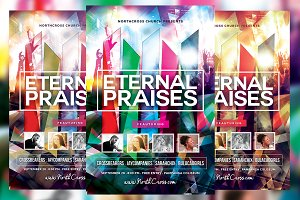 Eternal Praises Church Flyer