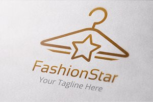 Fashion Star Logo Template
