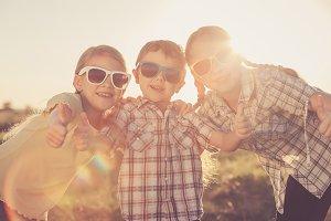 Happy children.
