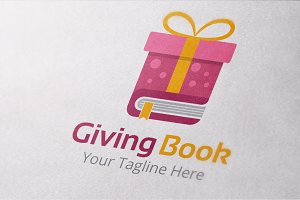 Giving Book Logo Template